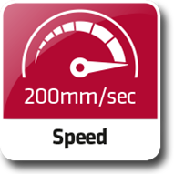 Hohe Laufgeschwindigkeit
